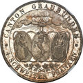 "Switzerland:Graubunden, Switzerland: Graubunden. Canton ""Shooting Festival"" 4 Franken 1842 MS66+ NGC, ..."