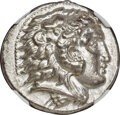 Ancients: MACEDONIAN KINGDOM. Alexander III the Great (336-323 BC). AR tetradrachm (26mm, 17.29 gm, 12h). NGC AU 5/5 - 3...