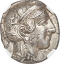 Ancients: ATTICA. Athens. Ca. 440-404 BC. AR tetradrachm (25mm, 17.19 gm, 8h). NGC AU 5/5 - 4/5