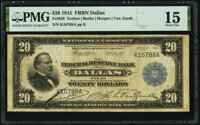 Fr. 828 $20 1915 Federal Reserve Bank Note PMG Choice Fine 15