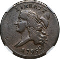 1793 1/2 C C-3, B-3, R.3 -- Obverse Scratched -- NGC Details. VF. The 1793 date is continually in demand, both for half...
