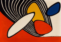 Alexander Calder (1898-1976) Contour Plowing, 1975 Lithograph in colors on wove paper 26-1/4 x 37