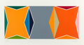 Prints & Multiples, Larry Zox (1936-2006). Three Gemini, 1978. Screenprint in colors on wove paper. 25 x 52-1/2 inches (63.5 x 133.4 cm) (sh...