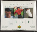 Golf Cards:General, 2001 Upper Deck Golf Box With 24 Unopened Packs - Tiger Woods Rookie Year!...