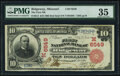 National Bank Notes:Missouri, Ridgeway, MO - $10 1902 Red Seal Fr. 613 The First National Bank Ch. # (M)6549 PMG Choice Very Fine 35.. ...