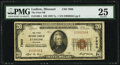 National Bank Notes:Missouri, Ludlow, MO - $20 1929 Ty. 1 The First National Bank Ch. # 7900 PMG Very Fine 25.. ...