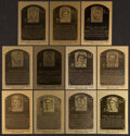 Baseball Cards:Sets, 1981-89 Baseball Hall of Fame Official Metallic Plaque Cards Complete Set (204) With Limited Edition Album....