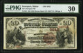 National Bank Notes:Maine, Searsport, ME - $20 1882 Brown Back Fr. 504 The Searsport National Bank Ch. # 2642 PMG Very Fine 30.. ...