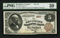 Montpelier, VT - $5 1882 Brown Back Fr. 467 The Montpelier National Bank Ch. # 857 PMG Very Fine 30