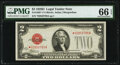 Fr. 1505* $2 1928D Legal Tender Note. PMG Gem Uncirculated 66 EPQ