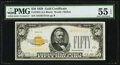 Small Size:Gold Certificates, Fr. 2404 $50 1928 Gold Certificate. PMG About Uncirculated 55 EPQ.. ...