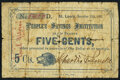 Obsoletes By State:Missouri, St. Louis, MO- People's Savings Institution 5¢ November 15, 1862 Good,. ...