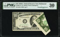 Error Notes:Foldovers, Printed Fold Error Fr. 2011-E* $10 1950A Federal Reserve Note. PMG Very Fine 30.. ...