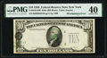 Error Notes:Shifted Third Printing, Misaligned Overprint - Shifted Third Printing Error Fr. 2010-B $10 1950 Wide Federal Reserve Note. PMG Extremely Fine 40.. ...