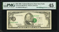 Error Notes:Shifted Third Printing, Misaligned Overprint - Shifted Third Printing Error Fr. 2125-B $50 1993 Federal Reserve Note. PMG Choice Extremely Fine 45....