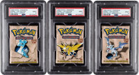 Pokémon First Edition Fossil Set Sealed Booster Packs Group of 3 (Wizards of the Coast, 1999) PSA MINT 9.... (Tot...