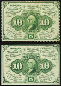 Fr. 1241 10¢ First Issue Choice About New; Fr. 1242 10¢ First Issue Choice About New