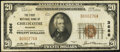 National Bank Notes:Missouri, Chillicothe, MO - $20 1929 Ty. 1 The First National Bank Ch. # 3686 Very Fine.. ...