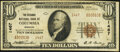 National Bank Notes:Missouri, Columbia, MO - $10 1929 Ty. 2 The Exchange National Bank Ch. # 1467 Very Fine.. ...