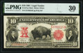 Large Size:Legal Tender Notes, Fr. 121 $10 1901 Mule Legal Tender PMG Very Fine 30.. ...