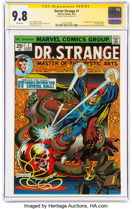 Doctor Strange #1 Signature Series: Stan Lee (Marvel, 1974) CGC NM/MT 9.8 White pages....
