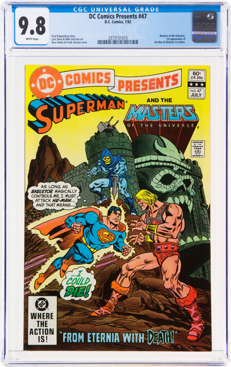 DC Comics Presents #47 Superman and The Masters of the Universe (DC, 1982) CGC NM/MT 9.8 White pages....