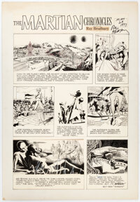 Doug Wildey The Martian Chronicles Comic Strip Original Art signed by Ray Bradbury dated 3-12-72 (Los Angeles Time... (T...