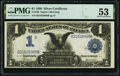 Large Size:Silver Certificates, Fr. 230 $1 1899 Silver Certificate PMG About Uncirculated 53.. ...