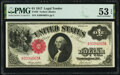 Large Size:Legal Tender Notes, Fr. 36 $1 1917 Legal Tender PMG About Uncirculated 53 EPQ.. ...