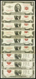 Fr. 1509* $2 1953 Legal Tender Notes. Three Examples. Fine-Very Fine or Better; Fr. 1511 $2 1953B Legal Tender