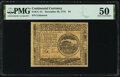 Continental Currency November 29, 1775 $4 PMG About Uncirculated 50