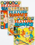 Feature Funnies Group of 4 (Chesler, 1938).... (Total: 4 Comic Books)