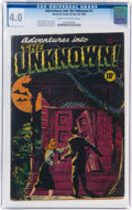 Golden Age (1938-1955):Horror, Adventures Into The Unknown #1 (ACG, 1948) CGC VG 4.0 Cream to off-white pages....