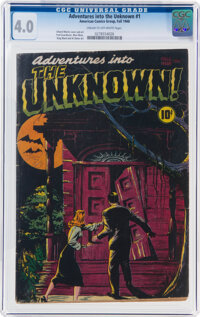 Adventures Into The Unknown #1 (ACG, 1948) CGC VG 4.0 Cream to off-white pages