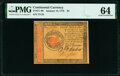 Colonial Notes:Continental Congress Issues, Continental Currency January 14, 1779 $4 PMG Choice Uncirculated 64.. ...