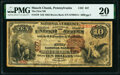 National Bank Notes:Pennsylvania, Mauch Chunk, PA - $10 1882 Brown Back Fr. 479 The First National Bank Ch. # 437 PMG Very Fine 20.. ...
