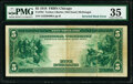 Inverted Back Error Fr. 794 $5 1918 Federal Reserve Bank Note PMG Choice Very Fine 35