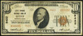 Lititz, PA - $10 1929 Ty. 1 Lititz Springs National Bank Ch. # 9422 Very Fine