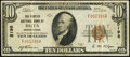 National Bank Notes:Pennsylvania, Delta, PA - $10 1929 Ty. 1 The Peoples National Bank Ch. # 5198 Very Fine.. ...