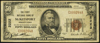 McKeesport, PA - $50 1929 Ty. 1 The First National Bank Ch. # 2222 Fine