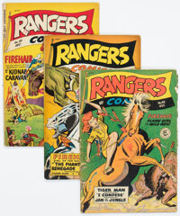 Rangers Comics #43, 46, and 50 Group (Fiction House, 1948-49) Condition: Average GD+.... (Total: 3 Comic Books)