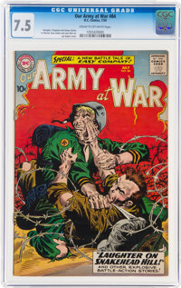 Our Army at War #84 (DC, 1959) CGC VF- 7.5 Cream to off-white pages