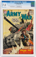 Silver Age (1956-1969):War, Our Army at War #86 (DC, 1959) CGC VF- 7.5 Cream to off-white pages....