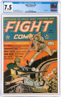 Golden Age (1938-1955):War, Fight Comics #24 (Fiction House, 1943) CGC VF- 7.5 Off-white to white pages....