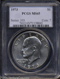 Eisenhower Dollars: , 1973 MS65 PCGS. ...