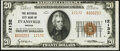 Evansville, IN - $20 1929 Ty. 2 The National City Bank Ch. # 12132 Crisp Uncirculated
