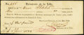 1832 New Orleans Property Tax Receipt May 1, 1832 Very Fine-Extremely Fine