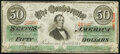 Confederate Notes:1863 Issues, T57 $50 1863 PF-1 Cr. 406 Very Fine.. ...