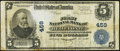 Bellefonte, PA - $5 1902 Plain Back Fr. 598 The First National Bank Ch. # 459 Very Fine