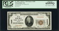 National Bank Notes, Fort Wayne, IN - $20 1929 Ty. 1 The Old National Bank Ch. # 3285 PCGS Gem New 65PPQ.. ...